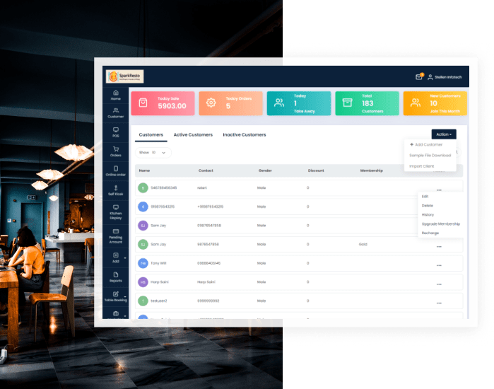 CRM to automate your entire Canteen Business!