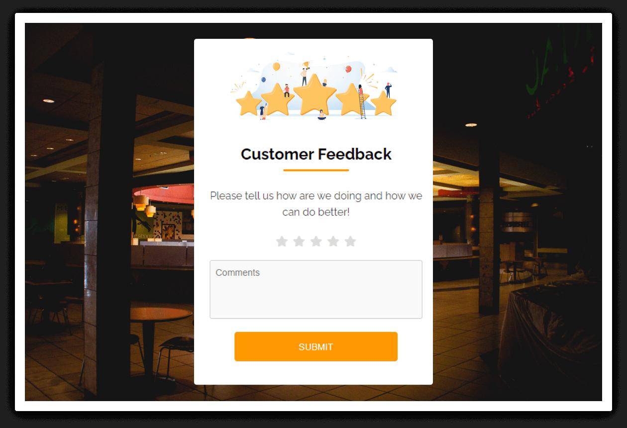 Restaurant feedback system