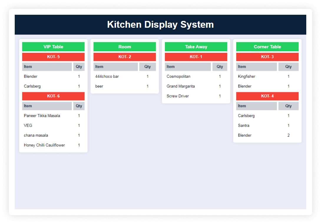 Kitchen Display System